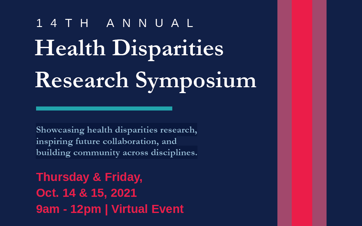 Flyer for the 14th Annual Health Disparities Research Symposium